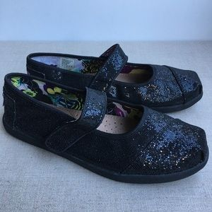 Bobs Girl US 4 Black Sparkly Mary Jane's